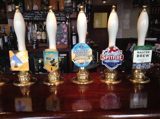 Kings Head:  Beer pumps