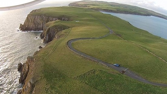 The winding road to the Mull of Galloway