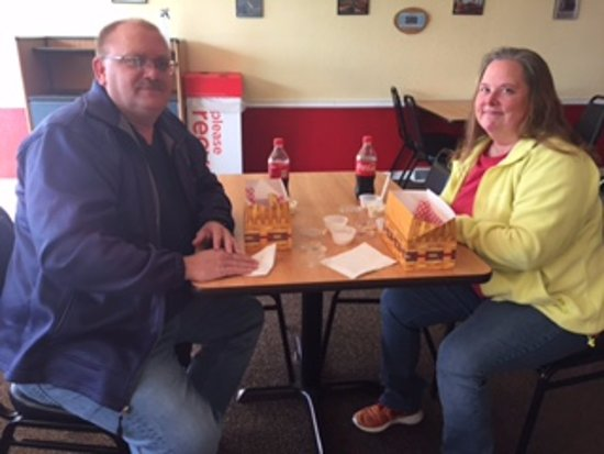 Monticello, IN: Diners enjoying our delicious chicken strips and dipping sauces!