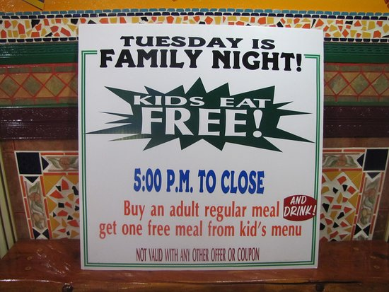 La Grande, OR: Tuesday Kids Eat for Free.