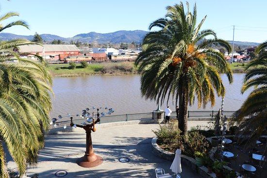 Napa River Inn at the Historic Napa Mill: View from the third floor balcony - Riverfront Promenade