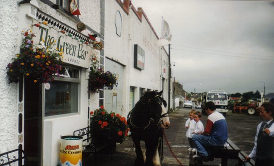 "Borrisokane, Irlanda: 1988 - ""The Horse Outside"" waiting patiently"