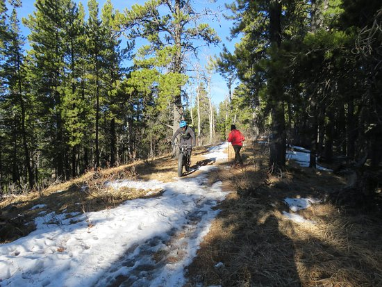 Bragg Creek, Canada: Hikers and bikers
