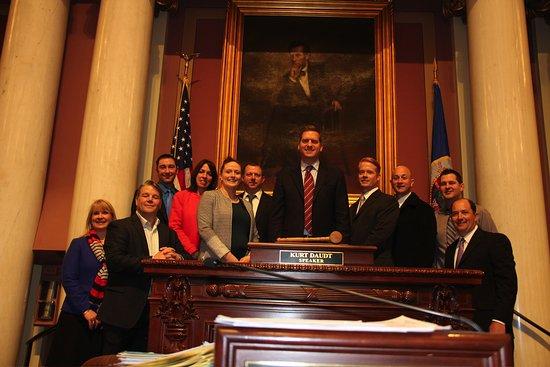 Minnesota State Capitol : Photo with Kurt Daudt Speak of the House