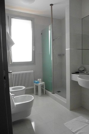 Godega di Sant'Urbano, İtalya: spacious bathroom with Luminous light