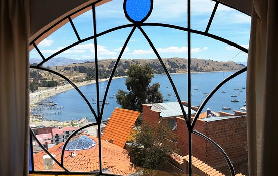Hotel La Cupula: View of Lake Titicaca from our room