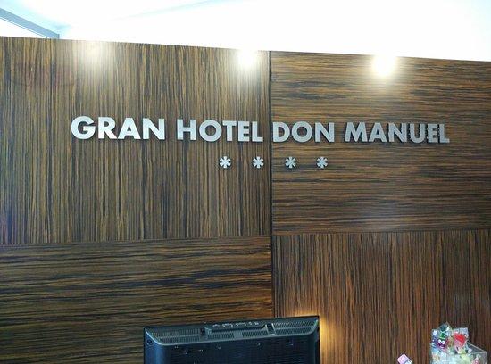 Gran Hotel Don Manuel: La recepción.
