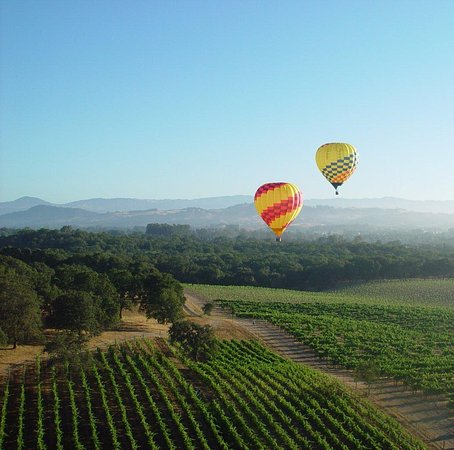 Ballooning over Sonoma County