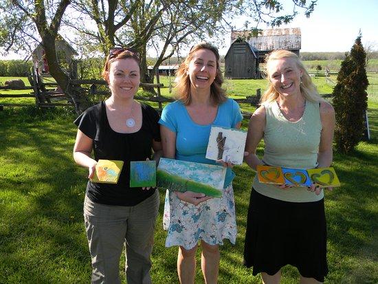 Encaustic Painting Workshops at Andrew Csafordi Studio Gallery, Bloomfield, ON - Prince Edward C