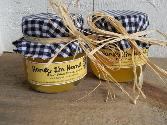 Honey from our own beehives at Andrew Csafordi Studio Gallery, Bloomfield, ON - Prince Edward Co