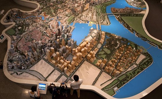 Singapore City Gallery: Bird eye view of the Central Area Model - which covers about 2% of Singapore land