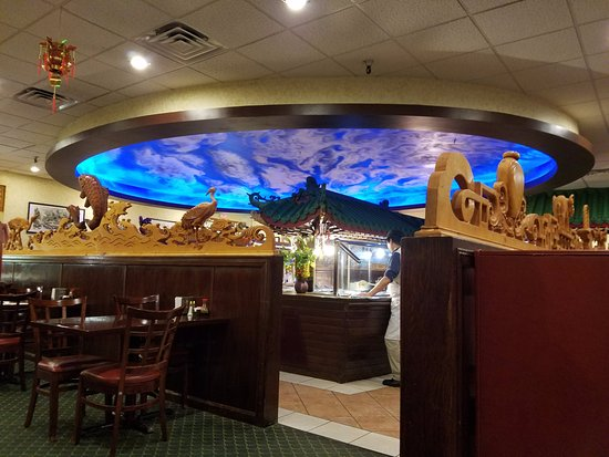 Canton, NY: View of Buffet from a Booth