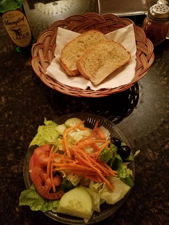 Canton, NY: Salad and Garlic Bread