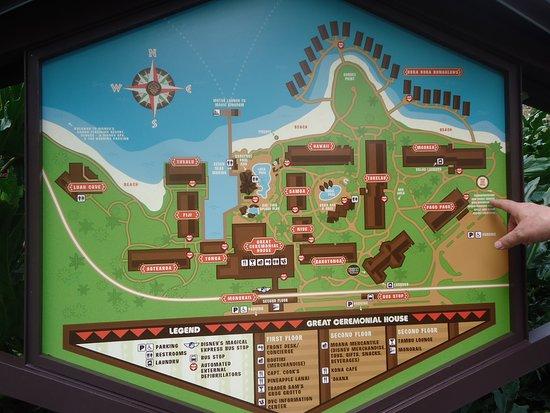 Disney's Polynesian Village Resort: Property map