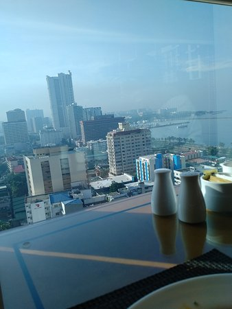 Pan Pacific Manila: View from the restaurant