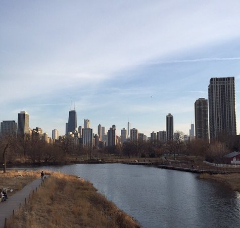 A view of the city from Lincoln Park.