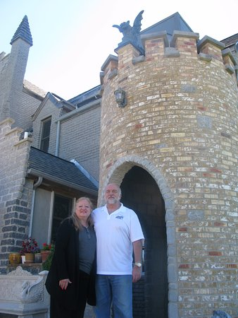 Harvard, IL: in front of RavenStone Castle
