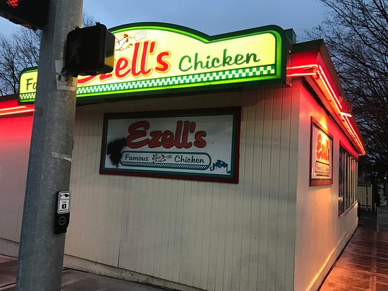 Ezell's Famous Chicken: Outside sign