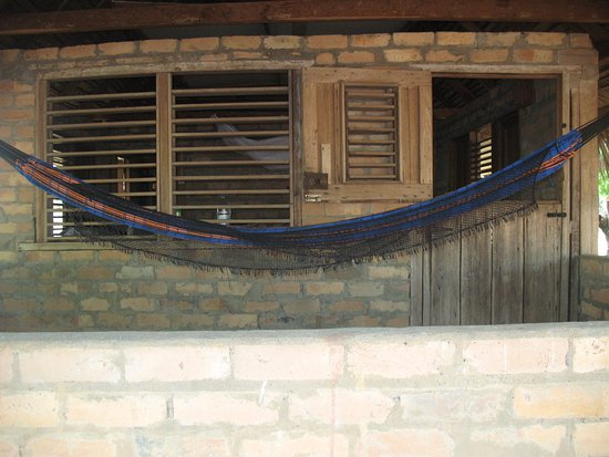 Rupununi, Guyana: From the porch looking in. Those windows have no glass and the blinds only closed with effort.