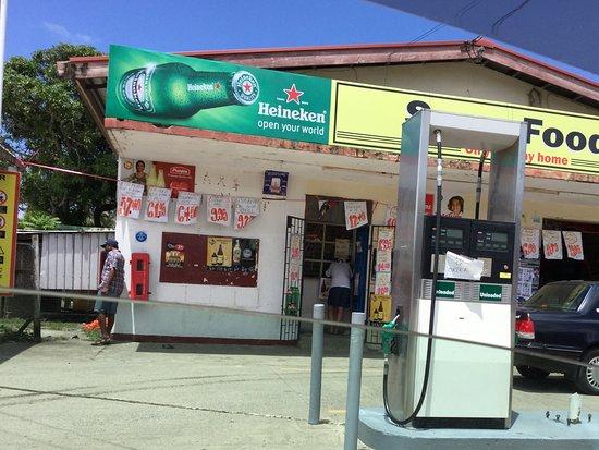 Gecko's Resort: Cuvu Supermart, liquor shop and petrol