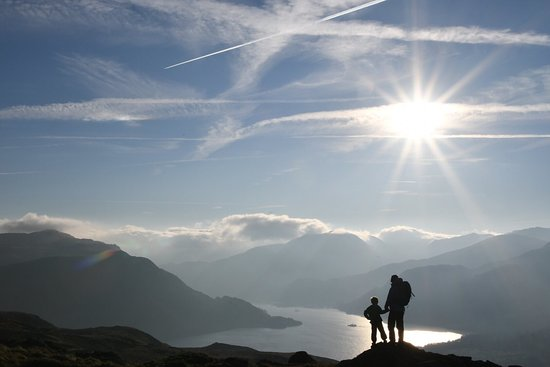 Watermillock, UK: The Ullswater Way is a 20 mile walk round Ullswater that comes past The Quiet Site