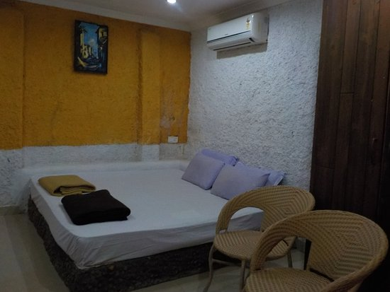 Anjuna, India: The bed room of cozy nook
