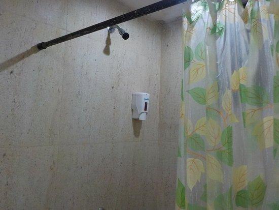 Anjuna, India: soap dispenser