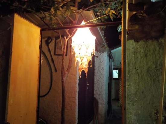 Anjuna, India: main iron door at the entrance