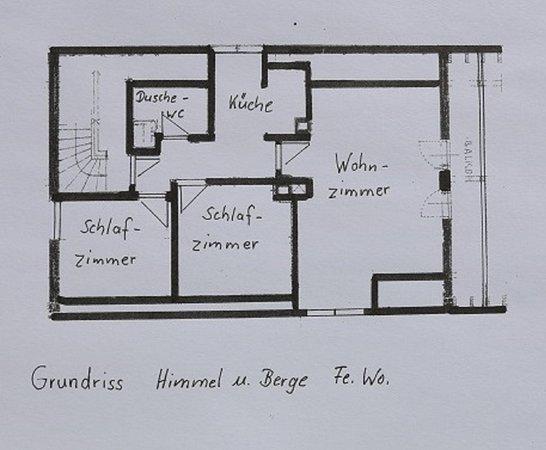 Raubling, Germany: Grundriss der Himmel und Bergeferienwohnung