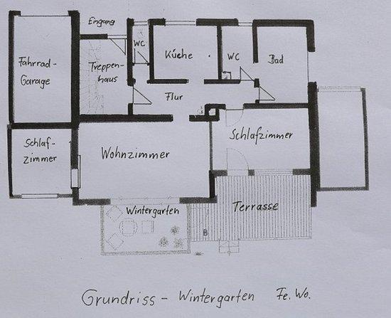Raubling, Germany: Grundriss - Wintergartenwohnung