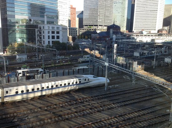 Four Seasons Hotel Tokyo at Marunouchi: train tracks....reminds me of Thomas the Tank