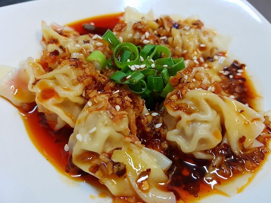 Glenorchy, Australien: wonton with hot chilli sauce