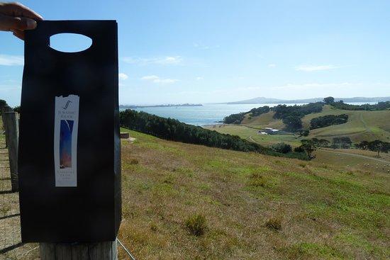 Oneroa, Nieuw-Zeeland: Blick von Jurassic Ridge