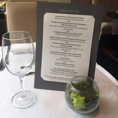 Restaurante Gom: Menú del día