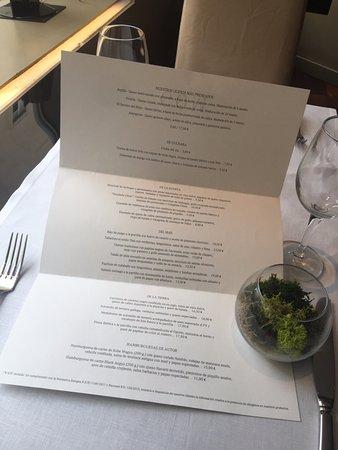Restaurante Gom: Carta con leyenda de alérgenos