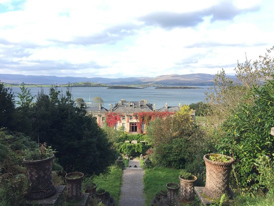 Bantry House & Garden: View over Bantry Bay from the top garden