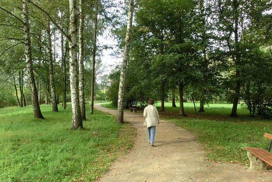 Bad Bocklet, Γερμανία: Einer der Wege durch den Kurpark