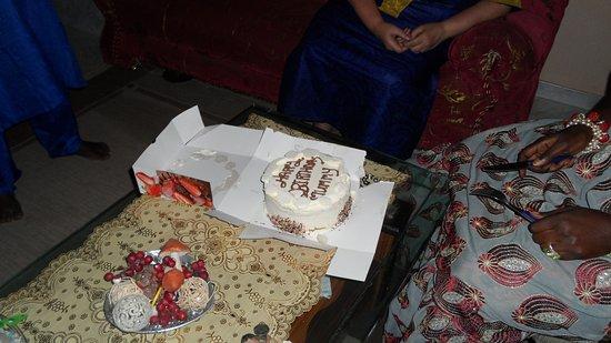 Wondrous Birthday Cake Baked By Them Picture Of La Parisienne Serekunda Personalised Birthday Cards Cominlily Jamesorg