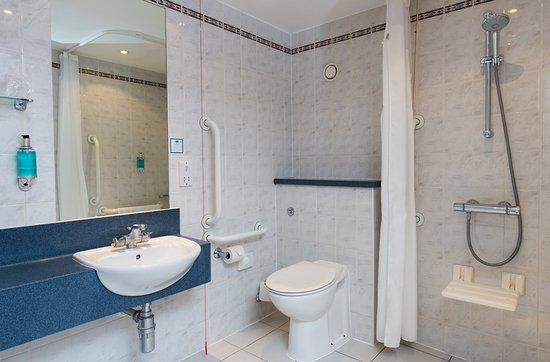 Our accessible bathrooms are designed for wheelchair users ...