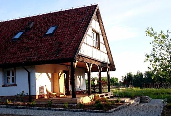 Morag, Polen: Agroturystyka - taras do relaksu dla naszych gości.