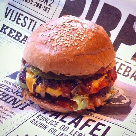 Balkan burger - Picture of Pirpa, Sarajevo - TripAdvisor