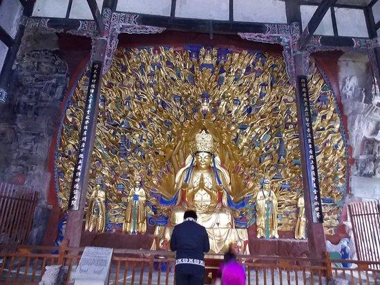Dazu County, China: Thosand arm Buddha