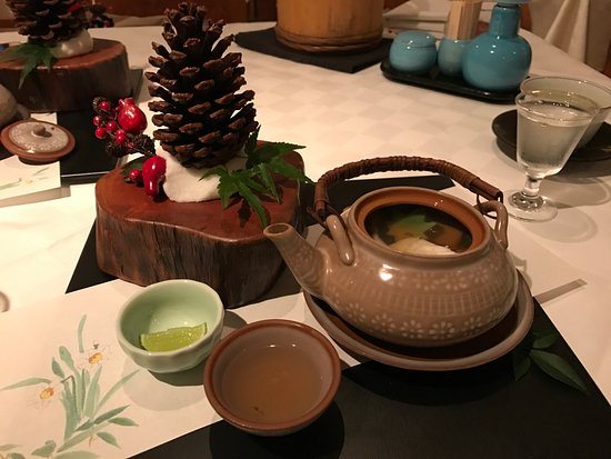 Seafood soup in teapot - Picture of Imasa, Hong Kong - TripAdvisor
