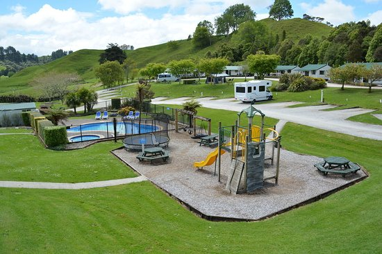 Waitomo Top 10 Holiday Park: camping Waitomo 2016 feb.