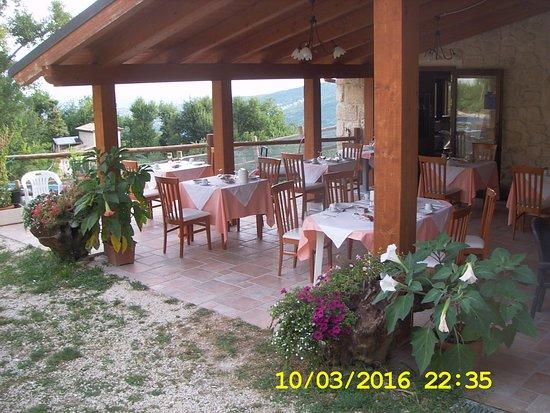 Abbateggio, Italia: area ristorazione