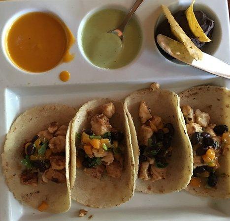 Cilantro fish tacos