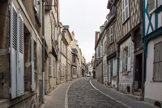 Bourges, France: Street near the cathedral - fun to walk around