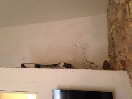 Hotel Casa Pedro Romero: Parte de cima do banheiro, que fica numa espécie de puxadinho dentro do quarto.