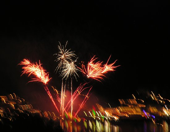 NEW YEARS EVE FIREWORK DISPLAY over ST. GEORGE'S HARBOUR.