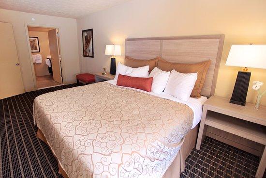 Master Bedroom With Adjoining Bath At Patriots Inn